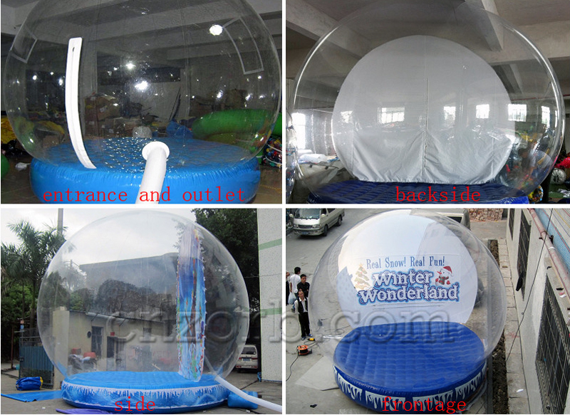 Inflatable Snow Globe Details